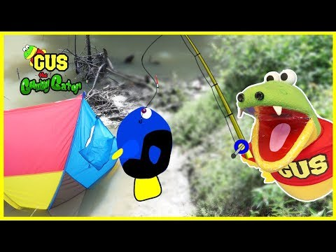 Pretend Play Camping and Fishing with Pretend Food Toys