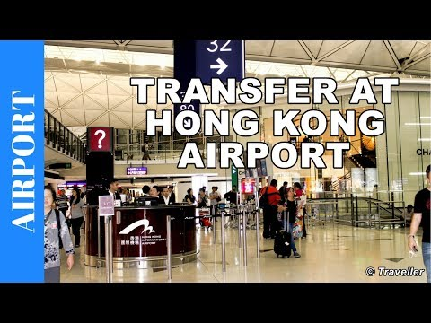 Hong Kong Airport - transit from North Satellite Concourse to Finnair flight in Terminal 1 - HKG