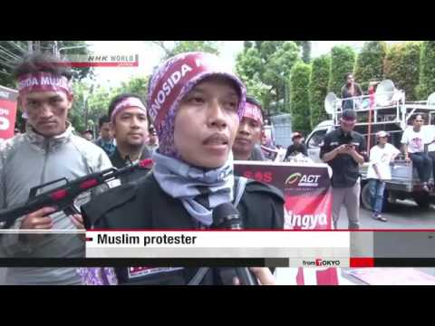 Muslims in Asia protest Rohingya treatment