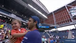 Juan Sebastian Cabal's son steals the show after dad's SF win | US Open 2019