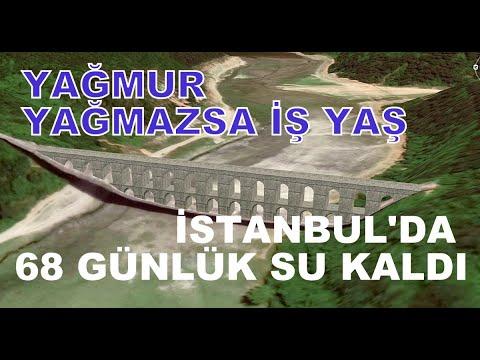 İSTANBUL'DA BARAJLAR ALARM VERİYOR 68 GÜNLÜK SU KALDI