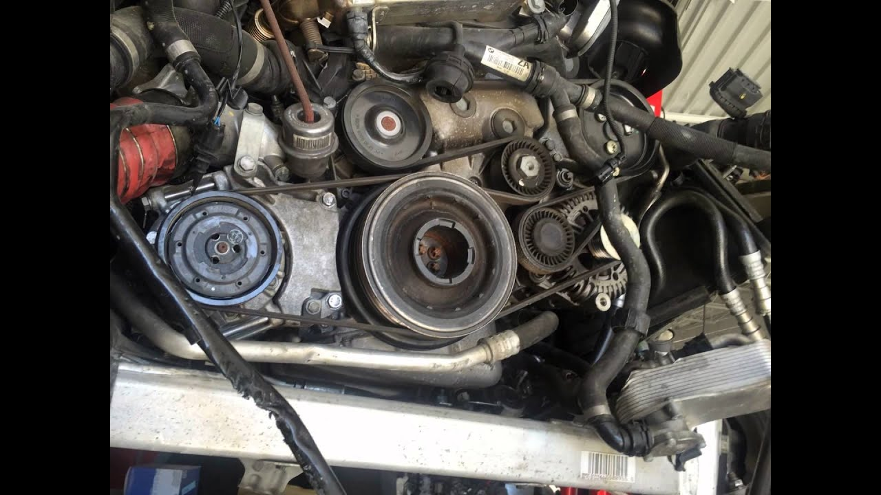 20112015 BMW 335 Dizel Drive Belt Location Serpantine Belt Diagram  YouTube
