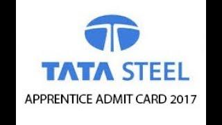 Tata Steel Apprentice Admit Card 2019 TISCO Trade Apprentice Hall