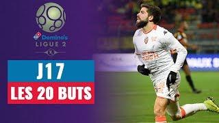 VIDEO: Ligue 2 : J17 - Les 20 buts de la soirée