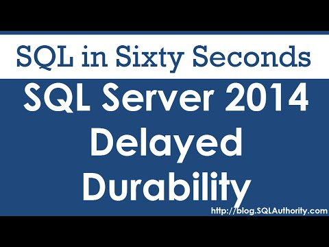 SQL SERVER - Video Introduction to Delayed Durability - SQL in Sixty Seconds #074 hqdefault
