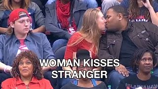 Woman Kisses Man Next to Her on Kiss Cam After Boyfriend Refuses to Kiss Her