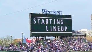 Chicago Cubs 2016 Starting Lineups (vs. Washington Nationals)