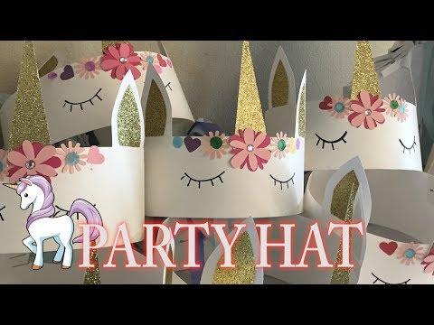 UNICORN PART HAT | PARTY FAVOR | CRAFT DIY DECOR | CUP N CAKES GOURMET