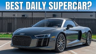 homepage tile video photo for 2018 Audi R8 V10 Plus Spyder Driving Review