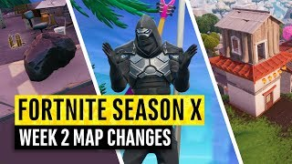Fortnite | All Season X Map Updates and Hidden Secrets! WEEK 2