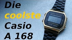 Die Casio A 168 Retro Uhr in schwarz-gold / Review Deutsch