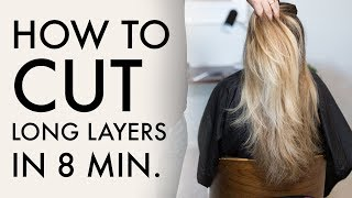 How To Cut Long Layers In 8 Min   Haircut Tutorial
