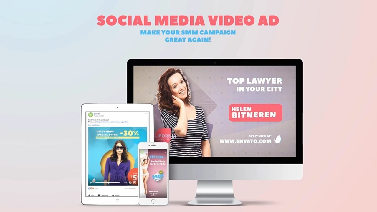 Facebook Video Ads Examples Template After Effects Template YouTube - Youtube ad template