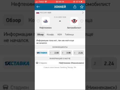 НЕФТЕХИМИК-АВТОМОБИЛИСТ/ПРОГНОЗ/СТАВКА/КХЛ/21.01.2020/