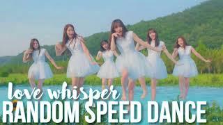 Video GFRIEND - LOVE WHISPER   Random Speed Dance Challenge download MP3, 3GP, MP4, WEBM, AVI, FLV September 2017