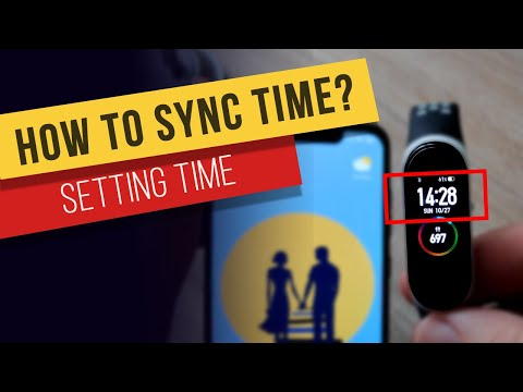 How to Sync or Set the time on Xiaomi Mi Band 4 Smart Watch
