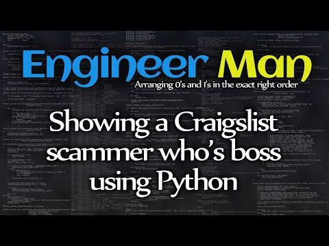 Showing a Craigslist scammer who's boss using Python