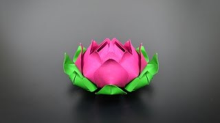 Origami: Lotus Flower - Instructions in English (BR)
