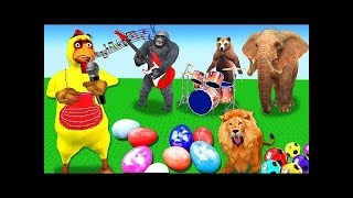 Funny Baby Play With Zoo Animals On The Playground Nursery Rhymes Songs Learn Animals for Children