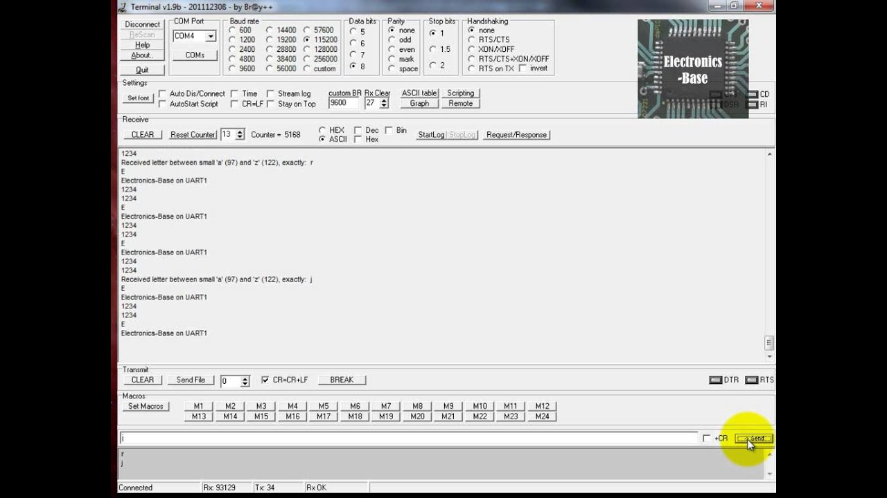 dsPIC30F4013 UART example