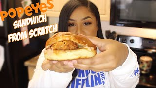 why i didn&#39t buy the popeyes chicken sandwich and made a better one instead.. recipe + mukbang
