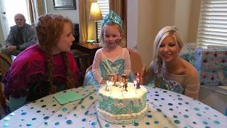 Elsa and Anna sing Happy Birthday to Evalyn