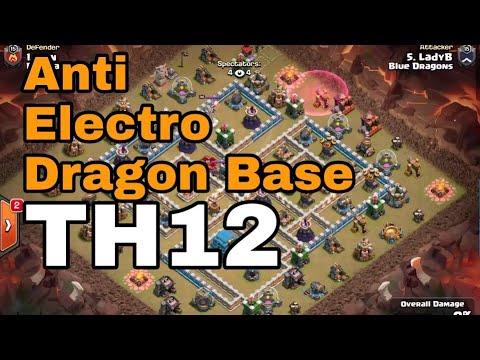 Best Th12 War Base Anti Electro Dragon 6