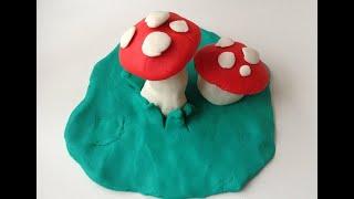 Oyun Hamurundan Mantar - play doh make to shape 面团的形状