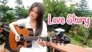 (Taylor Swift) Love Story - Fingerstyle Guitar Cover | Josephine Alexandra видео