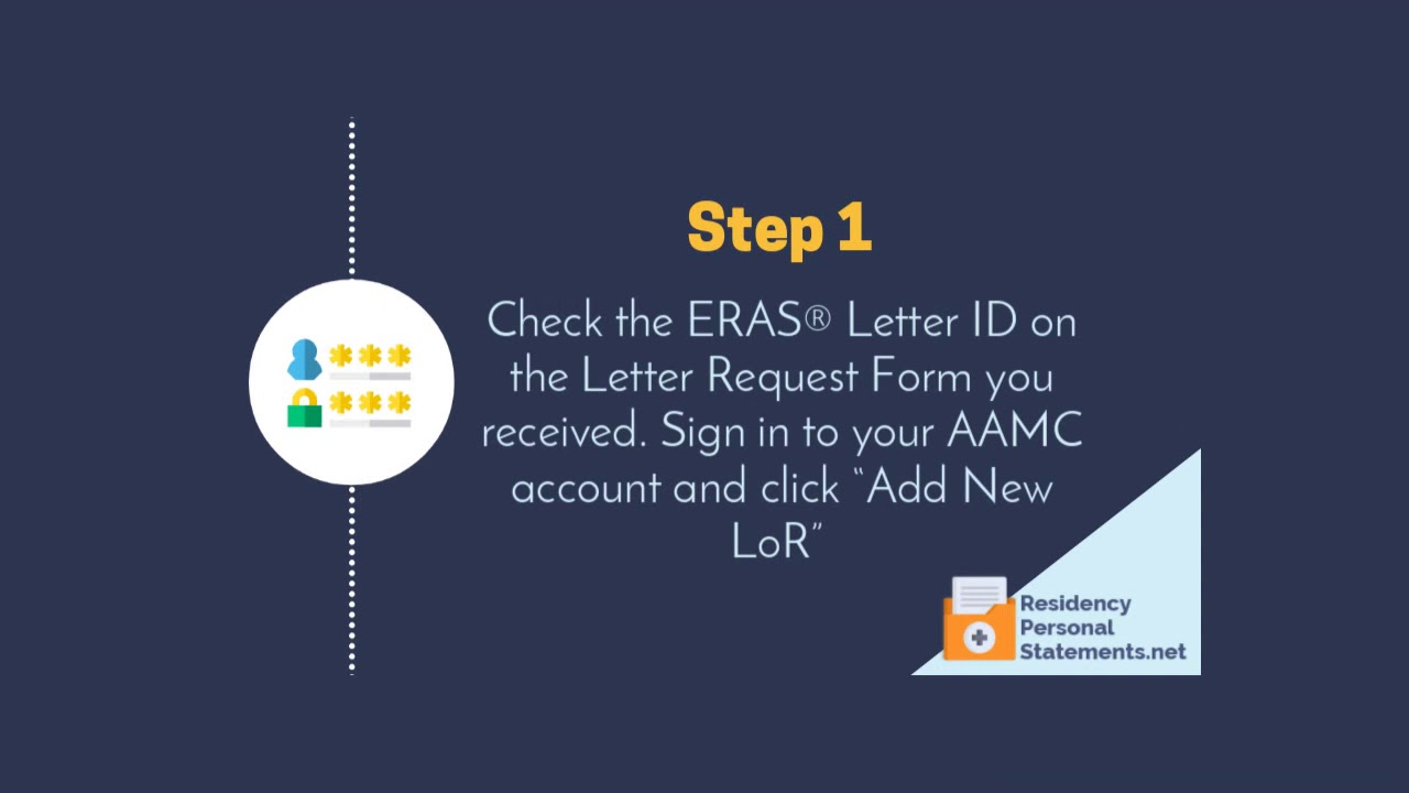 Letter of Recommendation Portal: How to Request LoRs in ERAS