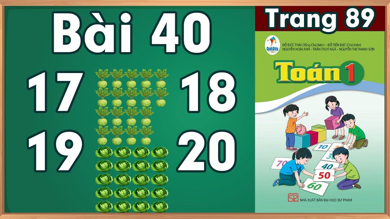 Học toán lớp 1|Toán lớp 1 sách cánh diều bài 40 |học toán  lớp 1 trực tuyến