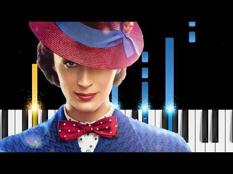 Mary Poppins Returns - Main Theme - Piano Tutorial