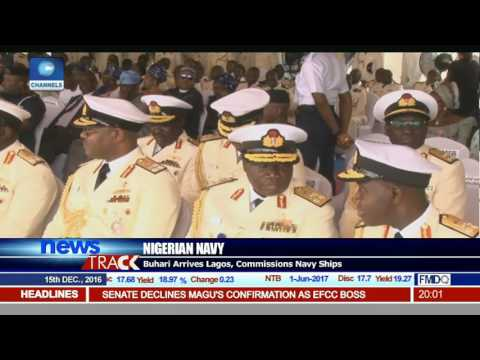 Buhari In Lagos, Commissions Locally Fabricated Navy Ships