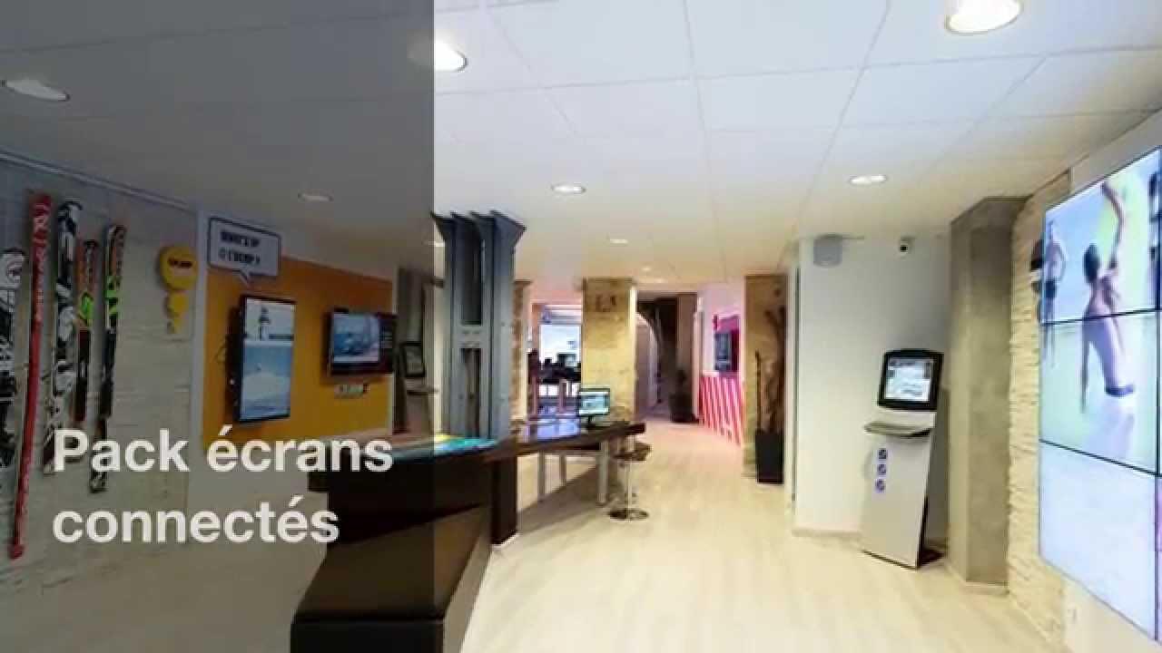 video logiciel affichage dynamique pour la communication sur  u00e9crans en magasins ou points de