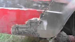 Ремонт крыла и замена колесных арок Ваз 2105