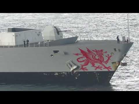 Royal Navy HMS Dragon (D35) arrives in Gibraltar