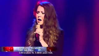 "Viktorija Novosel (cantante croata) interpretando ""paloma negra""."
