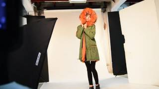 Meifng fur brand parka jacket