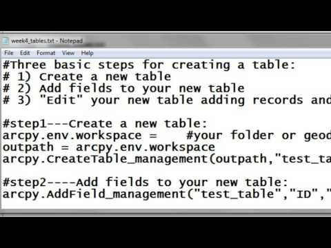 3) Creating Line Feature Classes Using Arcpy Scripting - YouTube