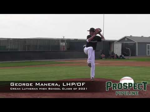 George Manera Prospect Video, LHP/OF, Crean Lutheran High School Class of 2021