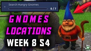 "Fortnite ""Search Hungry Gnomes"" LOCATIONS! (Week 8 / Season 4 Battle Pass Challenges)"