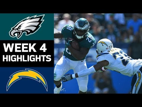Eagles vs. Chargers | NFL Week 4 Game Highlights