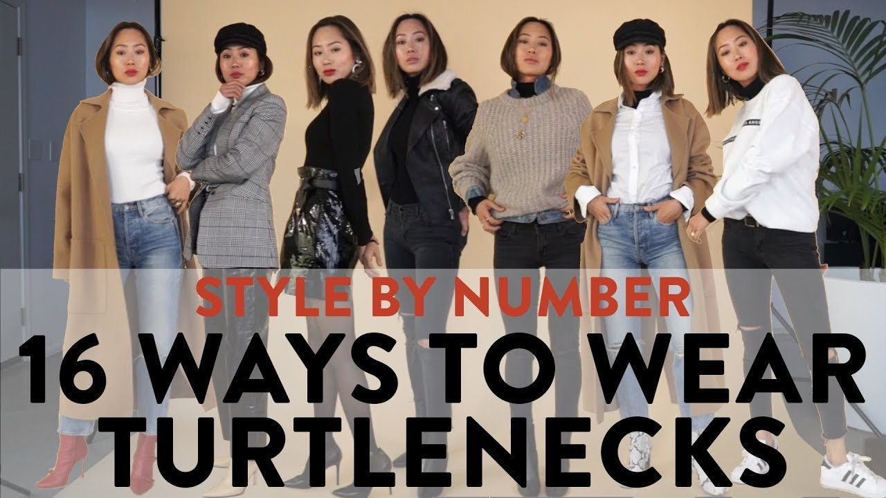 4d541b75d7fec9 16 Ways To Wear A Turtleneck - Style By Number | Aimee Song - YouTube