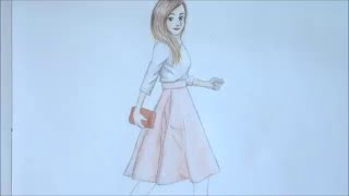 HOW TO DRAW a girl in a dress // Spring outfit ideas