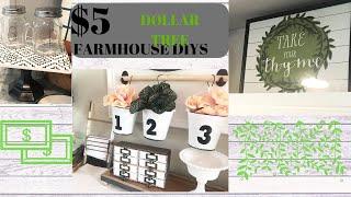 DOLLAR TREE FARMHOUSE DECOR // $5 & UNDER DIY DECOR