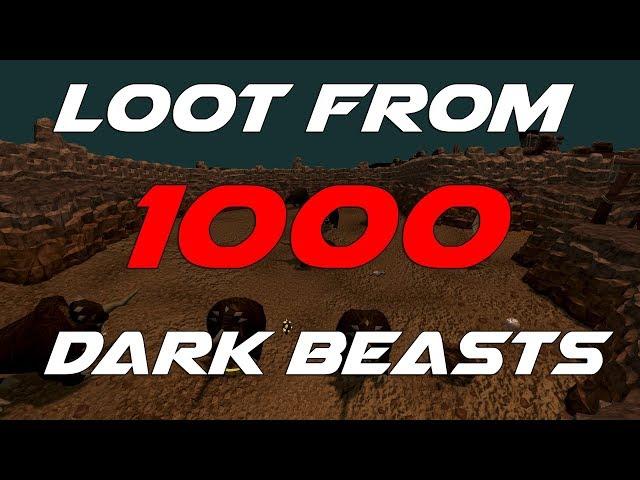 Runescape 3 - Loot from 1000 Dark beasts ft Legendary Pet