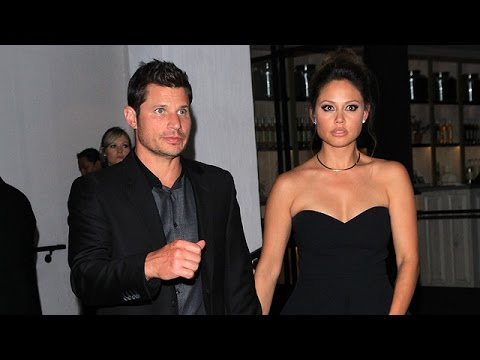 Nick Lachey Is Touchy When Asked About Jessica Simpson Jab, Tugs Wife Vanessa Away