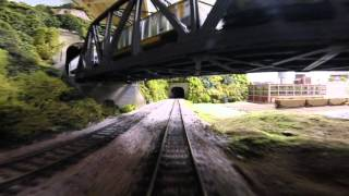 Ho CSX Train Layout Cab Ride Gopro take 2