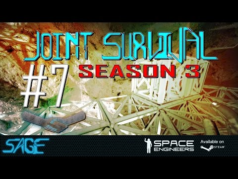 """Space Engineers, """"Rave Cave"""" & Battery Power (Joint Survival  S3, Ep #7)"""
