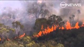 red alert bushfire  in australia 2013